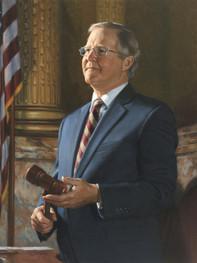 """Samuel H. Smith, Speaker Pennsylvania House of Representatives Harrisburg, Pennsylvania 36x30"""" Oil on linen"""
