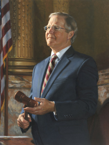 "Samuel H. Smith, Speaker Pennsylvania House of Representatives Harrisburg, Pennsylvania 36x30"" Oil on linen"