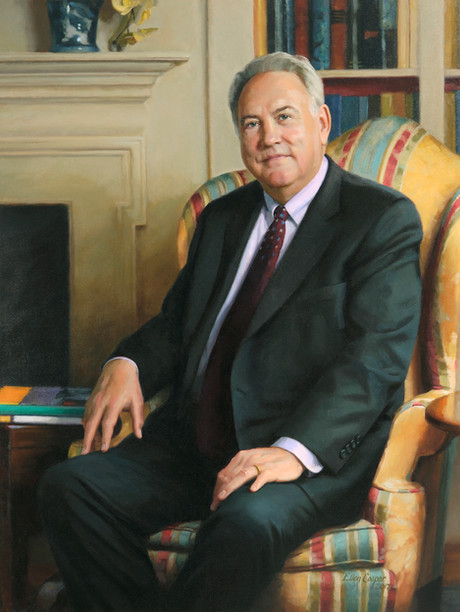 "John Tooker, M.D., M.B.A., M.A.C.P. CEO, American College of Physicians Philadelphia, Pennsylvania 42x32"" Oil on linen"