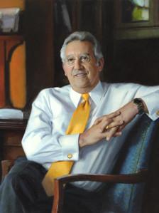 """Gregory Dell'Omo, Ph.D. President, Robert Morris University Moon, Pennsylvania 34x39"""" Oil on linen"""