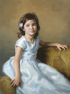 """Rachel Private Collection 32x26"""" Oil on linen  Portrait Society of America Exceptional Merit Award"""