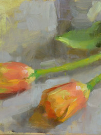 """""""Tulips"""" Private Collection 6x8"""" Oil on panel"""