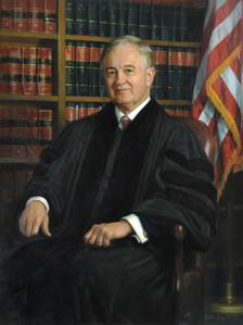 "The Honorable JD Smith Presiding Judge, Georgia Court of Appeals Atlanta, Georgia 42x32"" Oil on linen"