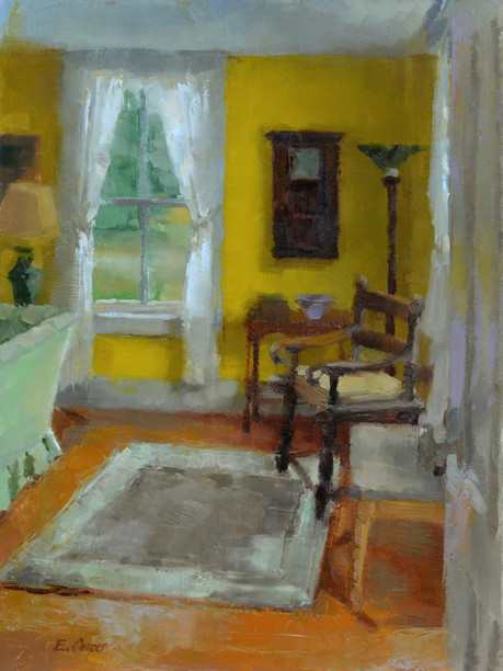 """""""Corner of the Livingroom, Islesboro"""" 9x12"""" Oil on panel  Please contact the artist for pricing."""