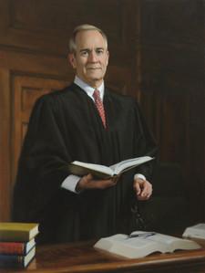 "The Honorable Laurance B. VanMeter Kentucky Supreme Court Justice Lexington, Kentucky 47x34"" Oil on linen"