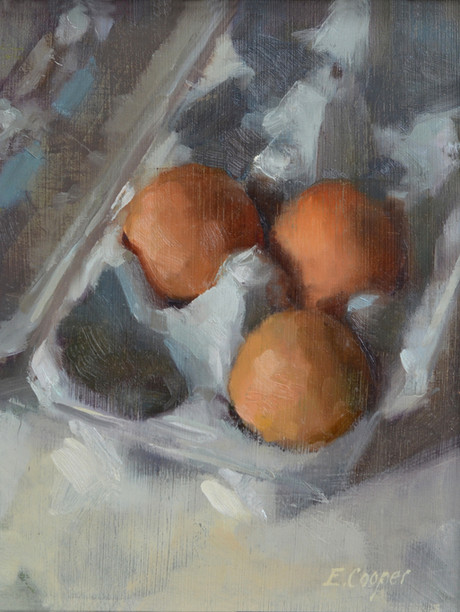 """""""Nestled Eggs"""" 8x10"""" Oil on panel  Please contact the artist for pricing."""