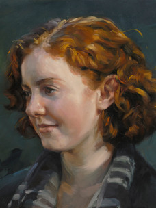 """Madeline, study Collection of the artist 12x16"""" Oil on panel"""