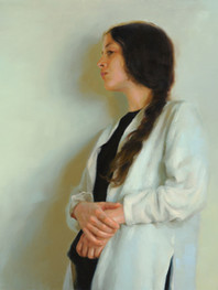 """""""Light Enfolding"""" 25x32"""" Oil on linen  Portrait Society of America  Certificate of Excellence  8th Annual National Figurative & Drawing Competiton Lore Degenstein Gallery Susquehanna University 4th Prize  Please contact the artist for pricing."""