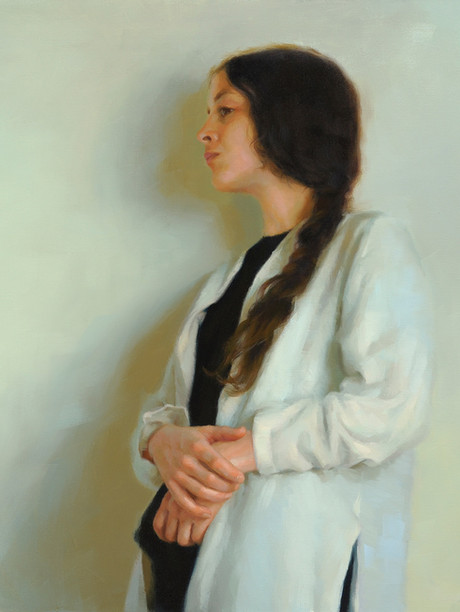 """Light Enfolding"" 25x32"" Oil on linen  Portrait Society of America  Certificate of Excellence  8th Annual National Figurative & Drawing Competiton Lore Degenstein Gallery Susquehanna University 4th Prize  Please contact the artist for pricing."