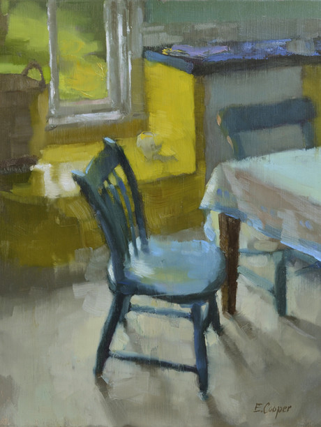 """""""Islesboro Kitchen"""" 10x12"""" Oil on panel  Please contact the artist for pricing."""