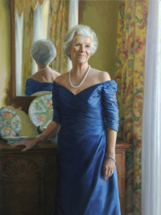 """Natalie Haslam Private Collection 54x38"""" Oil on linen"""