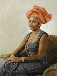 """Nnenna 41x29"""" Oil on linen  Please contact the artist for pricing."""