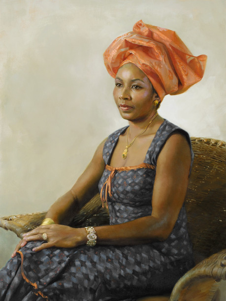 "Nnenna 41x29"" Oil on linen  Please contact the artist for pricing."