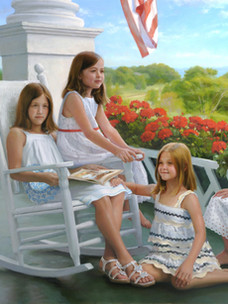 """""""Fourth of July"""" Private Collection 47x60"""" Oil on linen"""