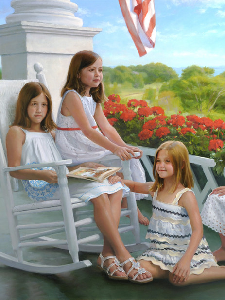 """Fourth of July"" Private Collection 47x60"" Oil on linen"