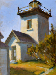 """""""Beacon, Maine"""" Private Collection 14x11"""" Oil on linen mounted on panel"""