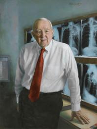 "Wallace T. Miller Sr., M.D. Hospital of the University of Pennsylvania Radiology Department Philadelphia, Pennsylvania 38x30"" Oil on linen"
