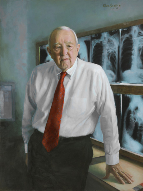"Wallace T. Miller Sr., M.D. Hospital of the University of Pennsylvania Radiology Department Philadelphia, Pennsylvania 38x30"" Oil on linen"