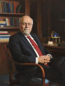 "Stuart Rabinowitz J.D. President, Hofstra University Hempstead, New York 42x36"" Oil on linen"