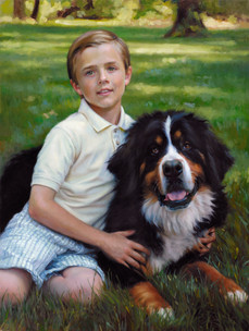 """Teddy and Bennie Private Collection 33x25"""" Oil on linen"""