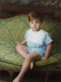 """Matthew Private Collection 42x28"""" Oil on linen  Portrait Society of America Honorable Mention – Commissioned Portraits"""