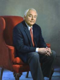 "Pat Whetstone Director, Alumni Affairs University of Alabama Tuscaloosa, Alabama 42x32"" Oil on linen"