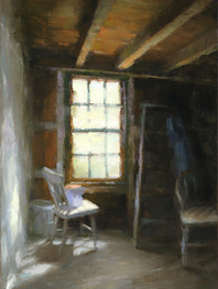 """""""Indian Island Shed"""" Private Collection 9x6"""" Oil on panel"""
