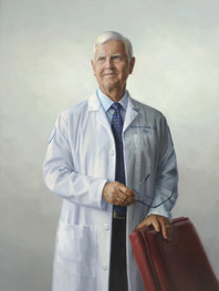 """Lawrence G. Smith, M.D., M.A.C.P. Executive Vice President & Physician-in-Chief, Northwell Health Founding Dean, Hofstra Northwell School of Medicine Long Island, New York 50x35"""" Oil on linen"""