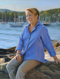 """Barb Jackson Private Collection 42x50"""" Oil on linen"""