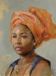 """Study of Nnenna 16x20"""" Oil on linen  Portrait Society of America 3rd Place, Non-Commissioned Portraits  Please contact the artist for pricing."""