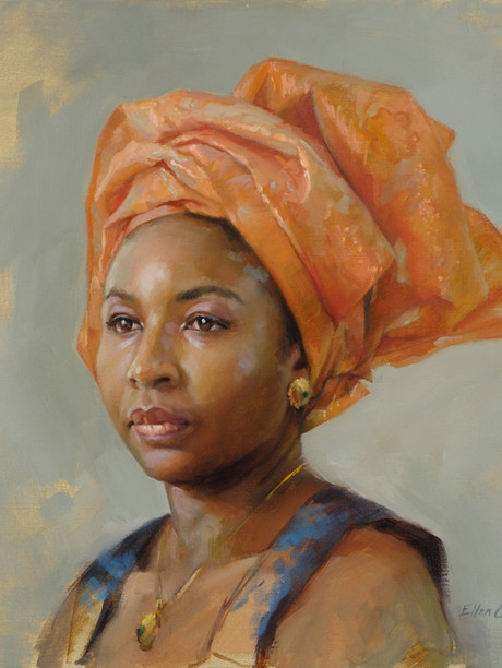 "Study of Nnenna 16x20"" Oil on linen  Portrait Society of America 3rd Place, Non-Commissioned Portraits  Please contact the artist for pricing."