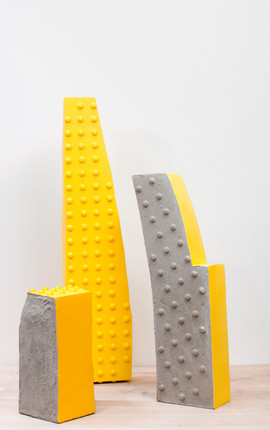 Tactile paving group of sculptures
