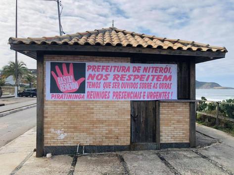 Moradores criticam mudanças previstas na revitalização da orla de Piratininga
