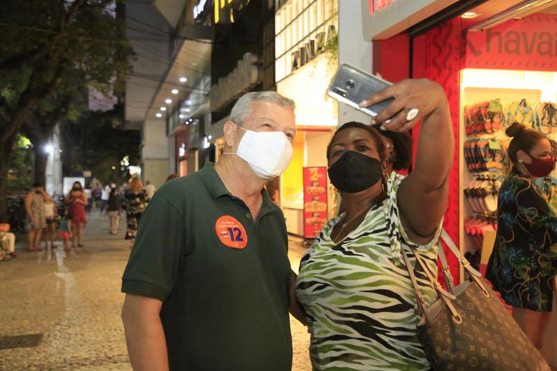 A campanha nas ruas