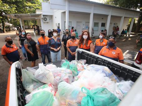 Solidariedade em Niterói arrecada 44 toneladas de alimentos e agasalhos