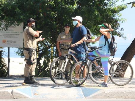 Guarda municipal controla frequência nas praias de Niterói