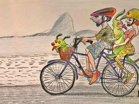Vamos de bike, por Hélio Bueno