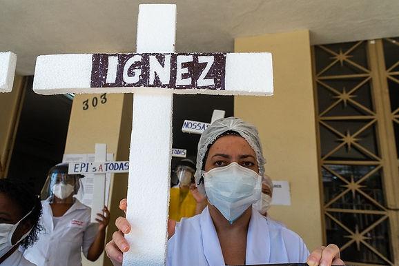 Protesto no Hospital Antônio Pedro