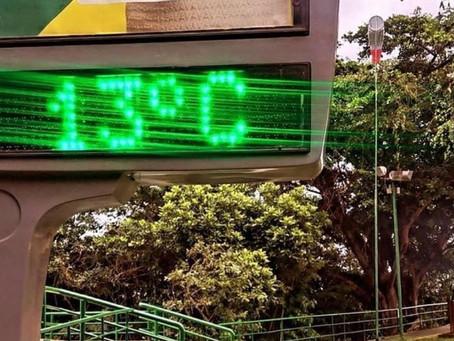 Termômetro do Parque da Cidade marca 13°C e foto viraliza