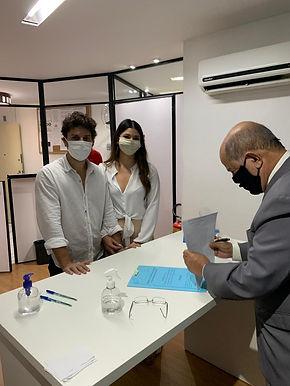 Um casamento em meio à pandemia em Niterói