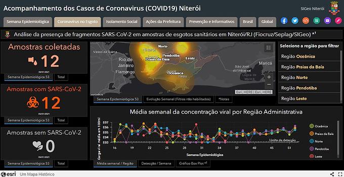 Coronavírus é detectado em 100% das amostras de esgoto de Niterói