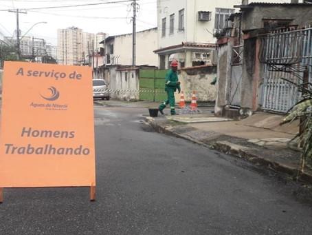 Obras de saneamento na Zona Norte