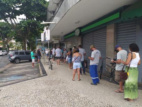 Segunda semana de isolamento em Niterói começa com filas e comércio aberto