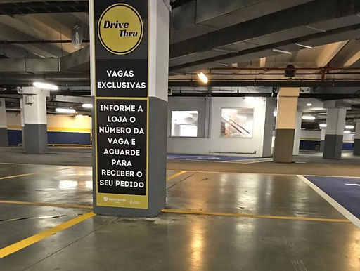 Shoppings de Niterói promovem drive thru e delivery