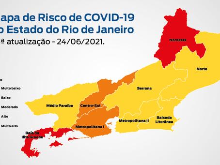 Mapa da Covid: Niterói aparece com baixo risco e Rio, moderado