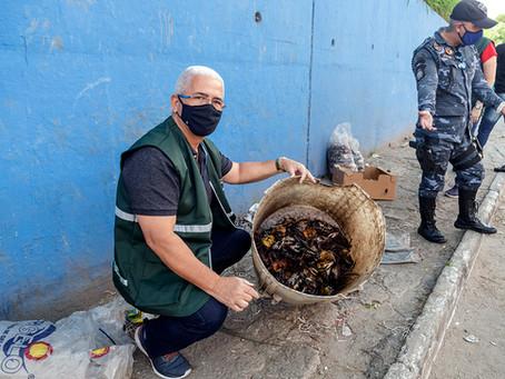São Gonçalo fiscaliza venda de caranguejos em feiras livres no período de defeso