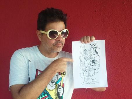 Escritor niteroiense lança livro em quadrinhos com boto contra o tráfico de drogas