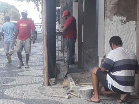 Obras  desrespeitam restrições do período emergencial em Niterói