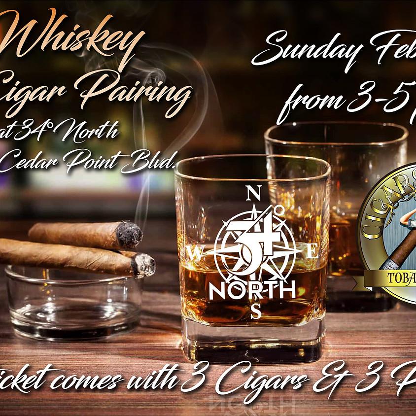 Whiskey & Cigar Pairing at 34°North
