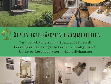 Kun ÈN ledig hytte igjen i juli ! Book snarest for hyggelig gårdsferie med din beste venn